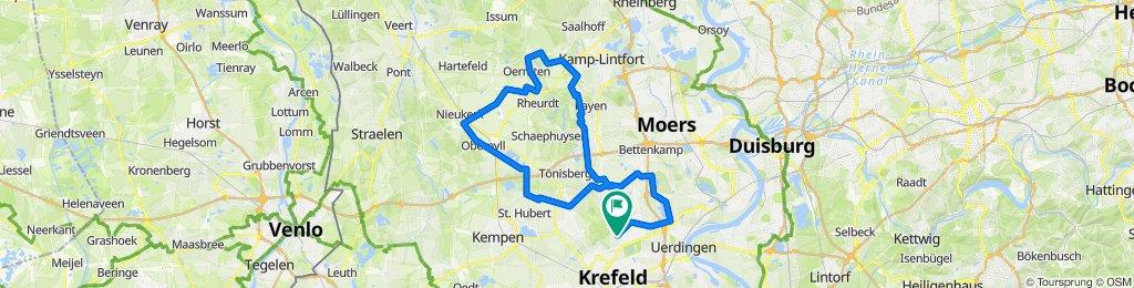 Flacher Niederrhein mit einer kurzen Steigung CLONED FROM ROUTE 200388