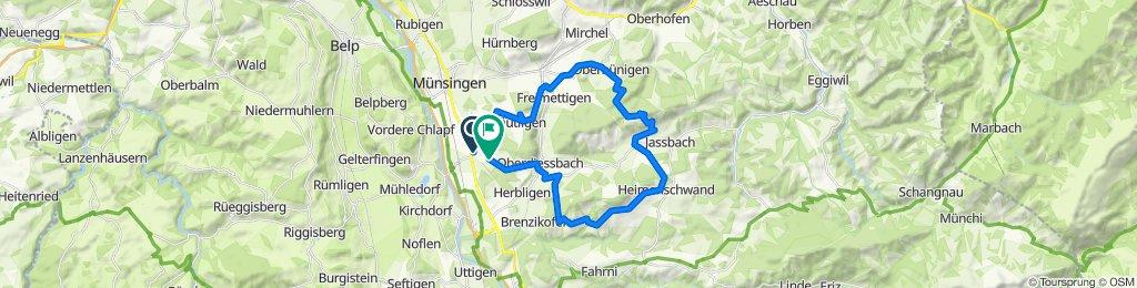 Wrach-Häutligen-Aebersold-Linden-Heimenschwand-Bleiken-Wrach, 40km
