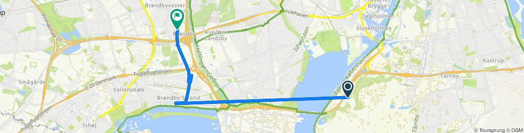Moderate route in Brøndby