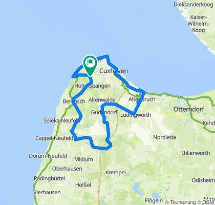 knackige Radtour durch das Umland von Cuxhaven