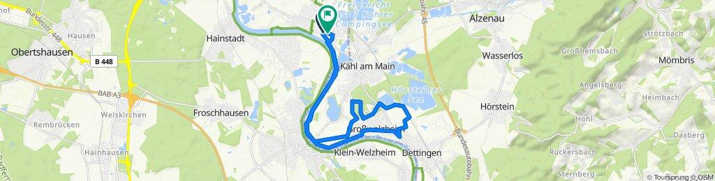 Entspannende Route in Großkrotzenburg