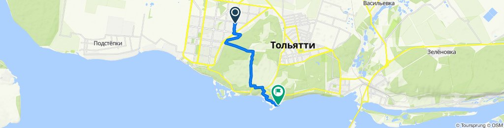 От улица Автостроителей 68А, Тольятти до Комсомольское шоссе 68А, Тольятти