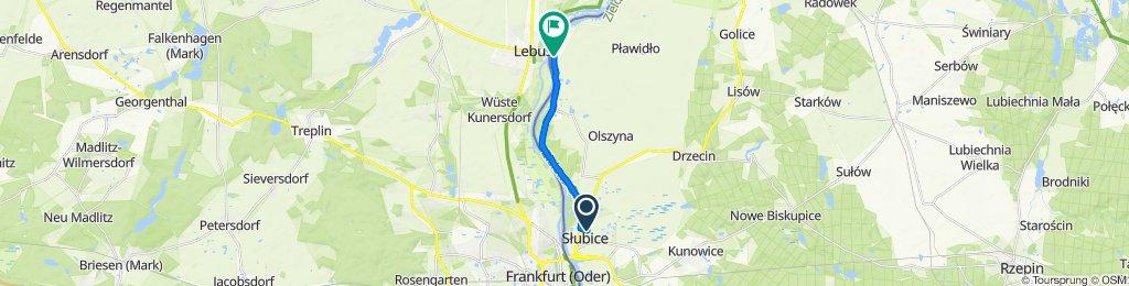 Spokojna trasa w Słubice
