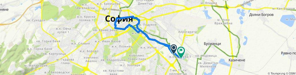 ulitsa 5039, Sofia to zhk Druzhba-1 45, Sofia