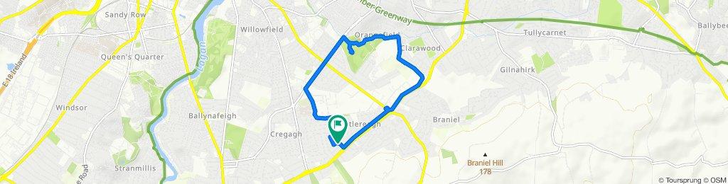 Restful route in Belfast