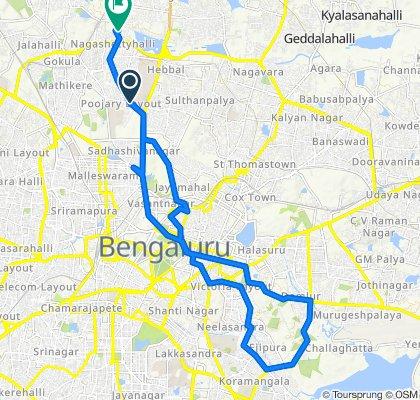 Dr Rajgopal Road, Bengaluru to 3rd Main Road, Bengaluru