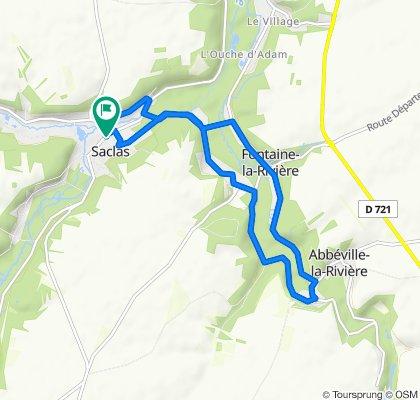 Itinéraire facile en Saclas