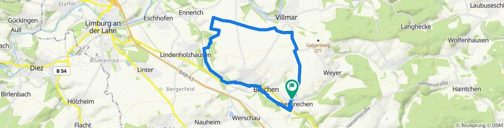 Moderate Route in Brechen