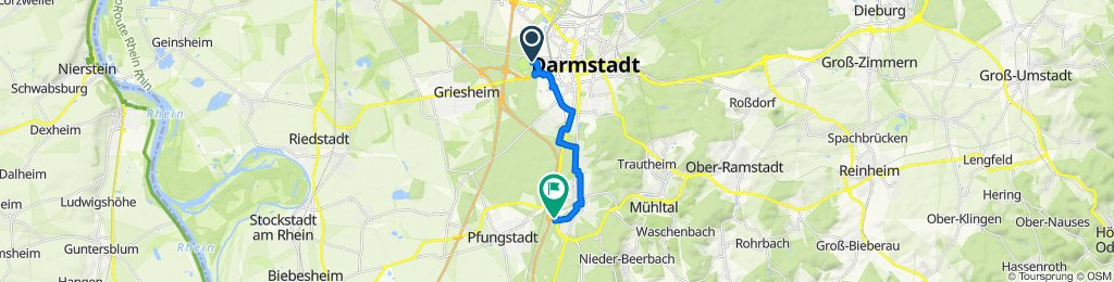 Moderate Route in Darmstadt