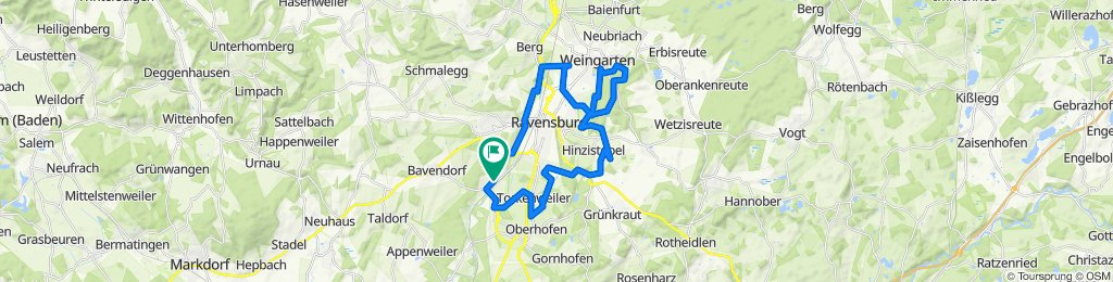 Abenteuerlustige Tour Weingarten bis Oberzell