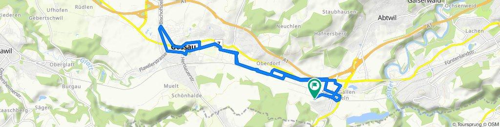 Steady ride in St. Gallen