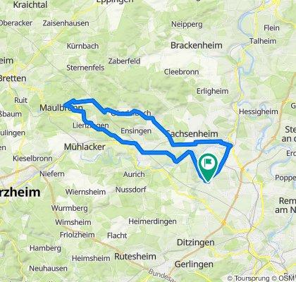 Stromberg-Murrtal-Weg 66 km nach Maulbronn