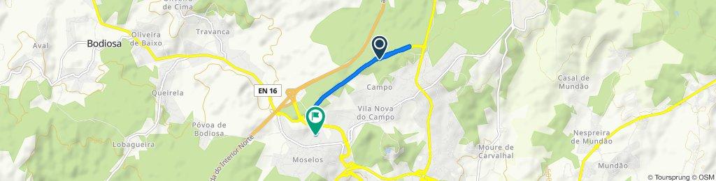 Acesso A24, Viseu to Rua dos Campinais 41, Campo