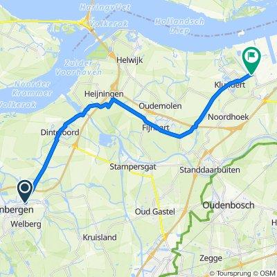 Gematigde route in Steenbergen