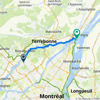 1010004 Regional Connector 08.01 Laval, QC to Repentigny, QC via Terrebone, QC 29.8km