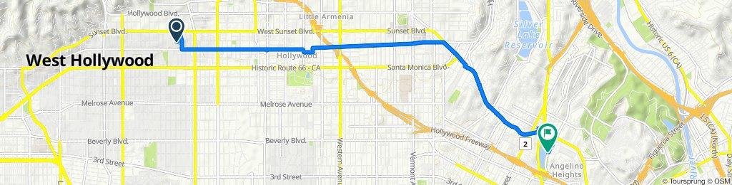 1401 N Poinsettia Pl, Los Angeles to 1632 Bellevue Ave, Los Angeles