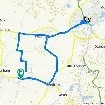 Wilburton to Ely on B roads