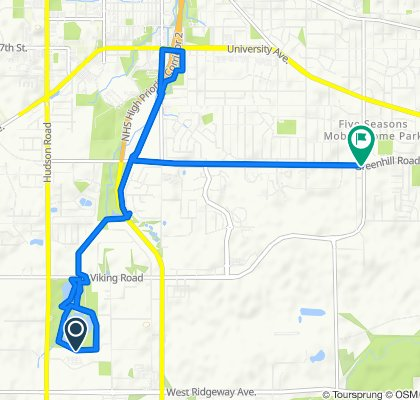 Manny's 18 mile route