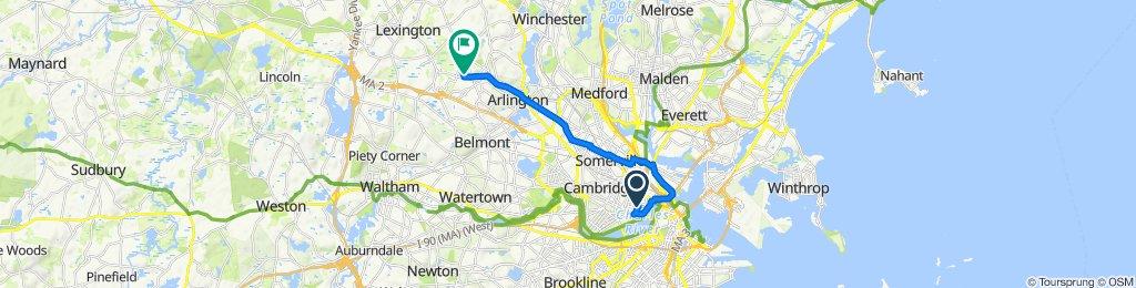 Restful route in Cambridge