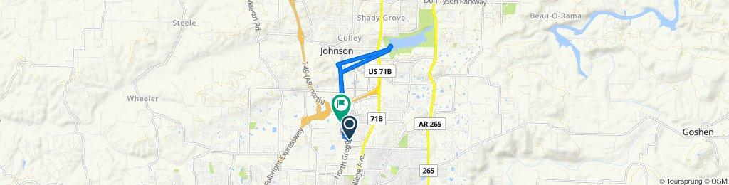 West Sunbridge Drive 112, Fayetteville to North Gregg Avenue 2902, Fayetteville