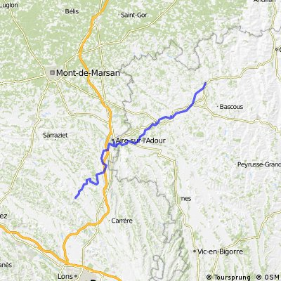 Pamplona - Hamburg Tag 04 Arzacq-Arraziguet - Eauze