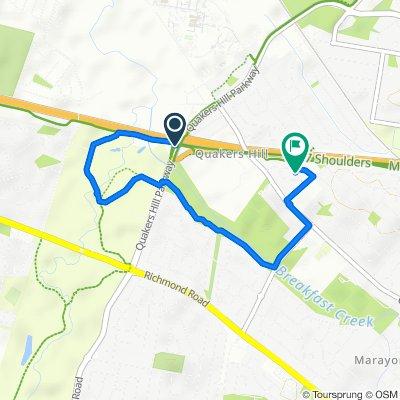 Quakers Hill Parkway, Quakers Hill to 24 Chaplin Crescent, Quakers Hill
