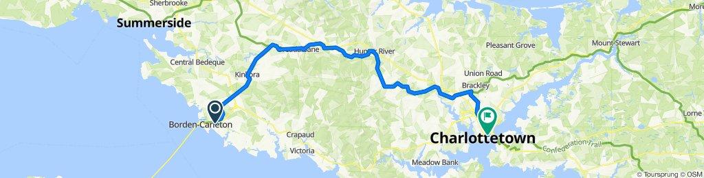 1010004 Regional Connector 10.01 Borden-Charleton, PE to Charlottetown, PE via Confederation Trail 66km