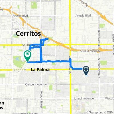 8299 Holder St, Buena Park to 4500 La Palma Ave, Cerritos