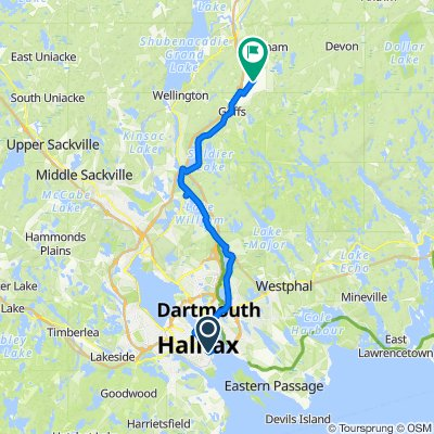 1010005 Regional Airport Connector 11.01 Halifax, NS to Enfield, NS (Stanfield Intl Airport YHZ) 39km