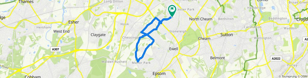 Moderate route in Worcester Park