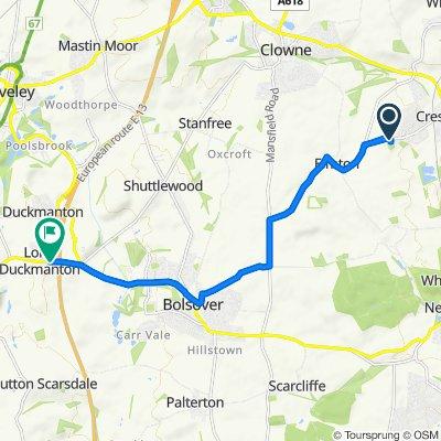 65 Elmton Road, Worksop to Garth-owen, Chesterfield Road, Chesterfield