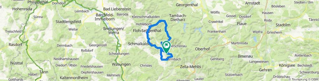 Steinbach - Ebertswiese und zurück über Asbach