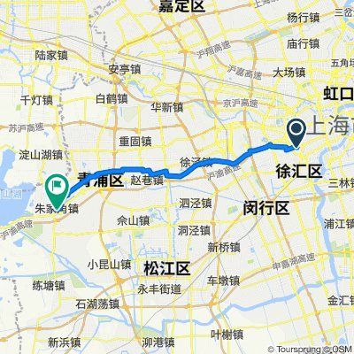 Kaixuan Road No.2050 Shanghai Transportation Bureau, Shanghai to No.247 Caohe Street, Shanghai