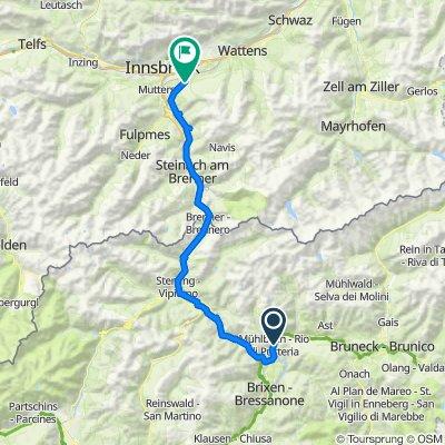 MTB-Flach: Etappe04 HA-IBK: Mühlbach-Eisacktalradweg-Brenner-Innsbruck