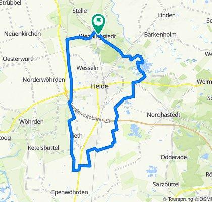 Weddingstedt -Hemmingstedt- Süderholm- Weddingstedt