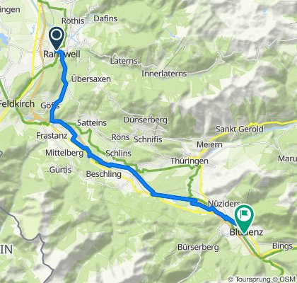 Schnelle Tour in Bludenz
