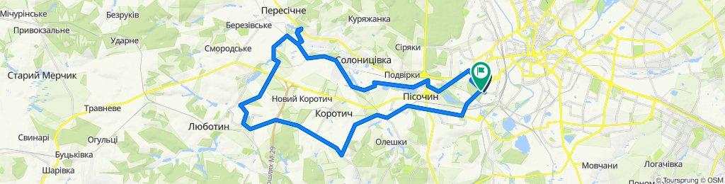 От вулиця Баварська 50, Харків до Новоселовка (ул. Баварская), Харків