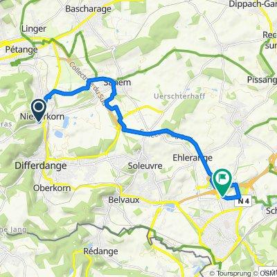 Rota relaxada em Esch-sur-Alzette