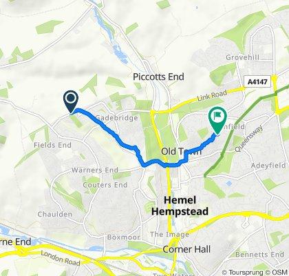 Relaxed route in Hemel Hempstead