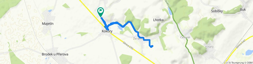 Moderate route in Kokory