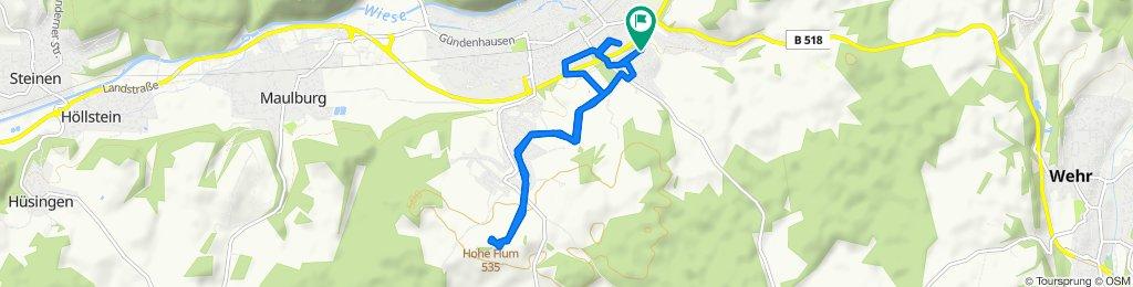 Restful route in Schopfheim