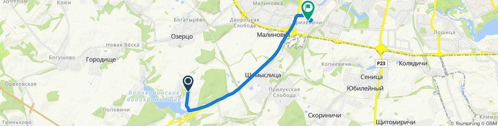 От вуліца Пасялковая, Воўкавічы до улица Яна Чечота 36, Минск