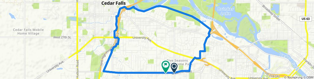 Chadwick Road 4507, Cedar Falls to Wedgewood Drive 4322, Cedar Falls