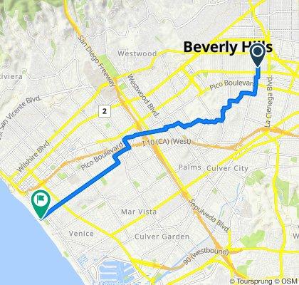849 S Shenandoah St, Los Angeles to 2525 Ocean Front Walk, Santa Monica