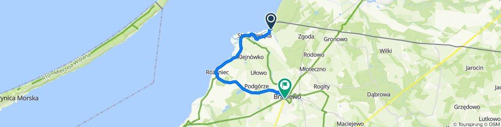 Łatwa trasa w Braniewo