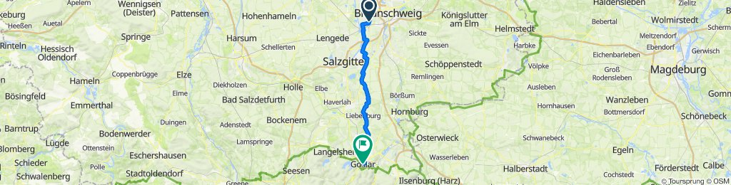 Timmerlah nach Goslar