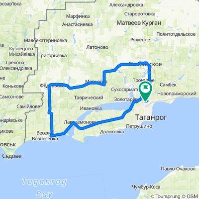 144 km, Таганрог от, до Дачная улица 98а
