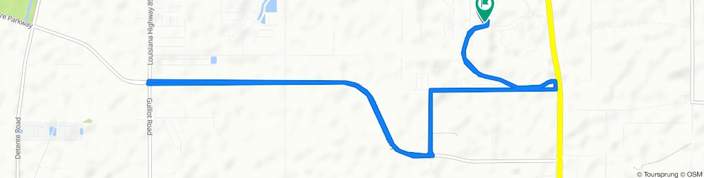 High-speed route in Broussard