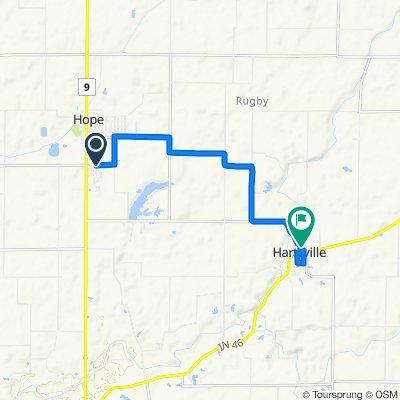 Hauser Drive 153, Hope to East North Street 250, Hartsville