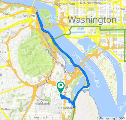 Restful route in Arlington